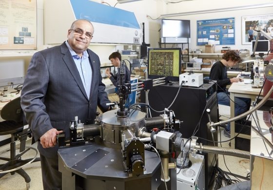 Dr. Raafat Mansour in lab