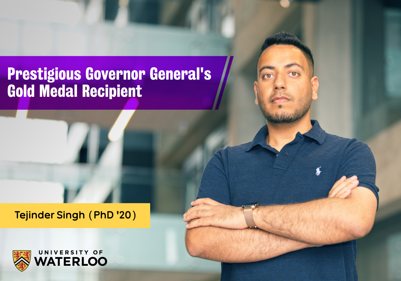 Prestigious Governor General's Gold Medal awarded to Dr. Tejinder Singh