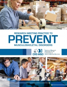 Centre of Research Expertise for the Prevention of Musculoskeletal Disorders brochure cover