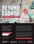 beyond essays exhibit poster