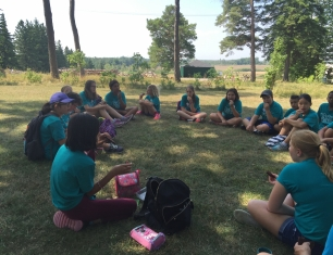 Campers learn at Ignatius Farm