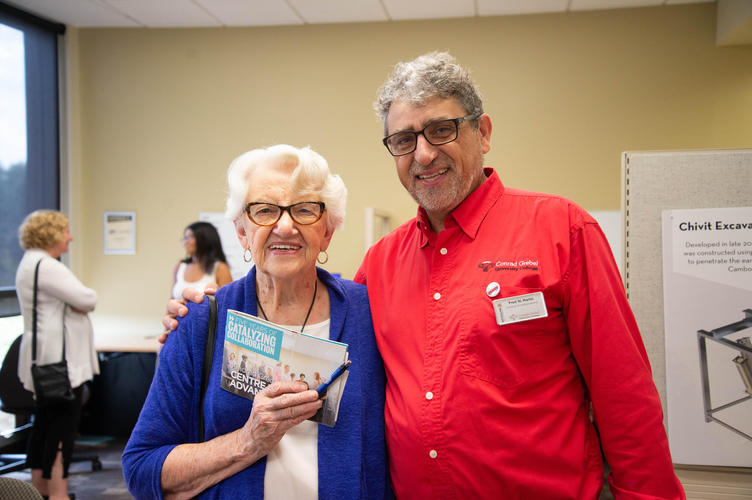Helen Epp and Director of Advancement Fred Martin