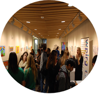 People at the Opportunities Fair in the Grebel Gallery