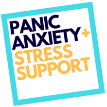 panic anxiety stress and support logo
