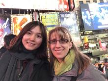 Visit to New York with host mom.