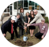 Ground breaking for new building at Grebel