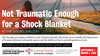Not Traumatic Enough for a Shock Blanket poster depicting a brunette woman wrapped in a blanket and looking into the horizon.