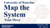 "Graphic with text ""University of Waterloo Map the System Team Mixer"""