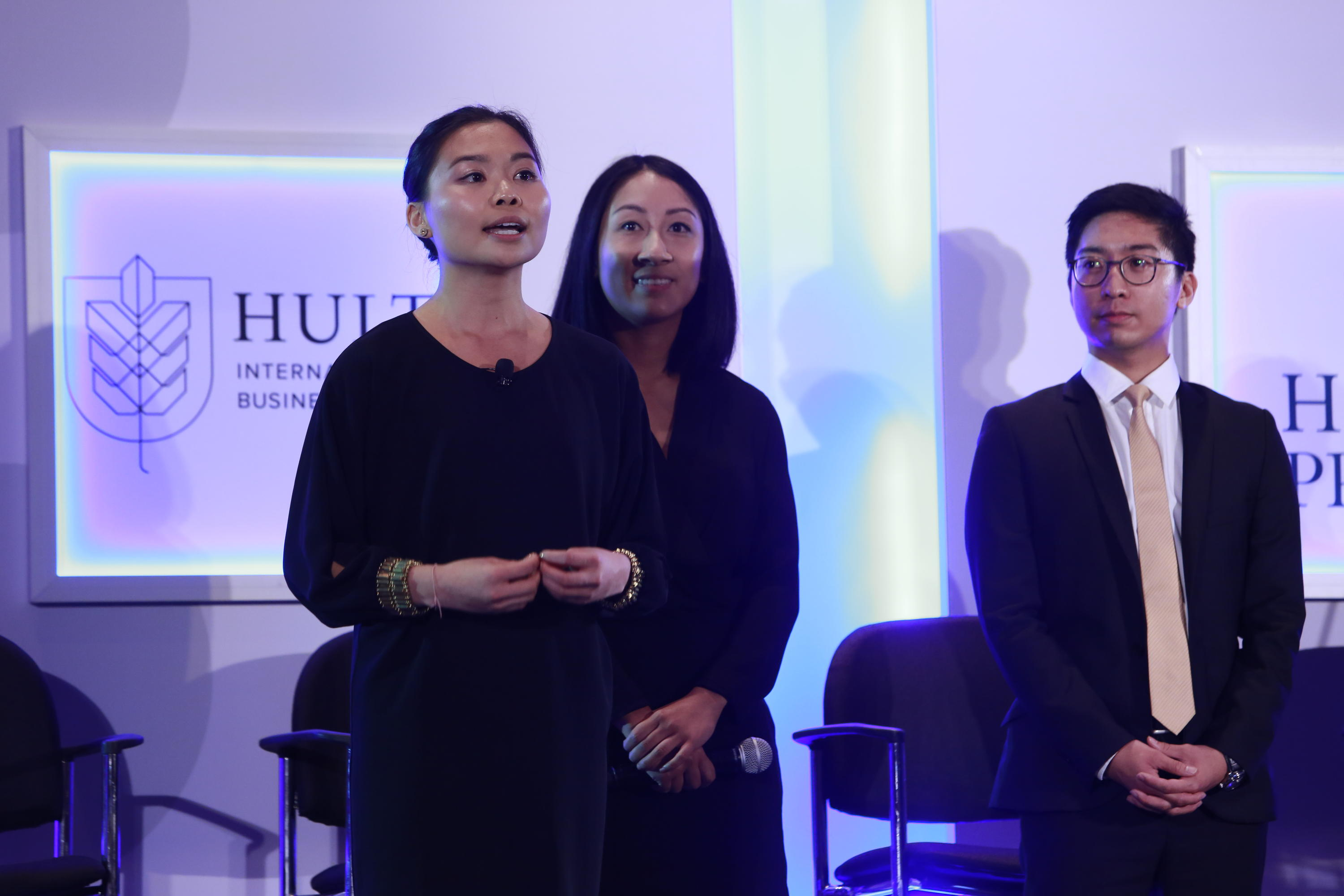 Jade Choy from EPOCH presenting at the Hult Prize competition.