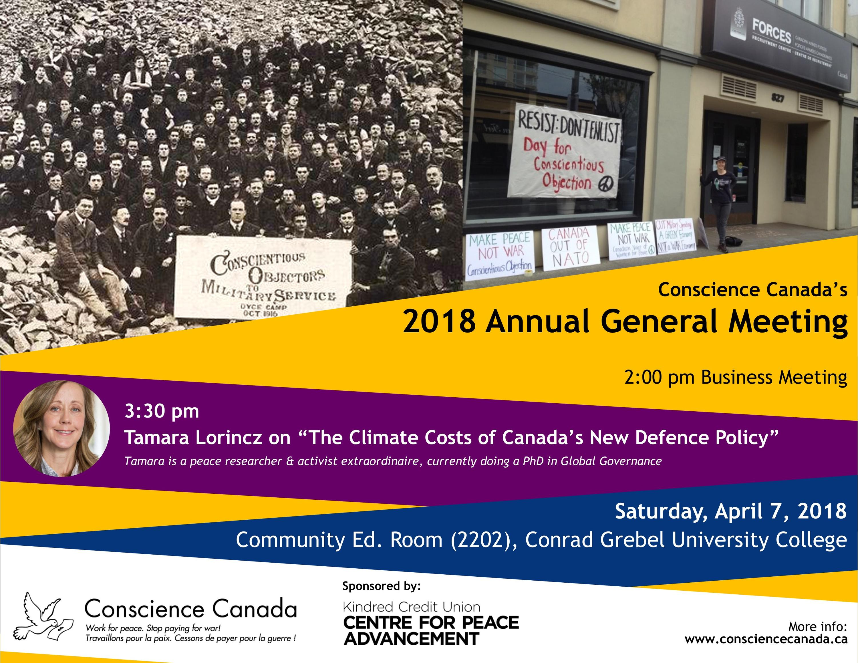 Conscience Canada's 2018 AGM publication