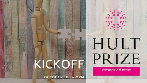 Poster for Hult Prize Kickoff at UWaterloo
