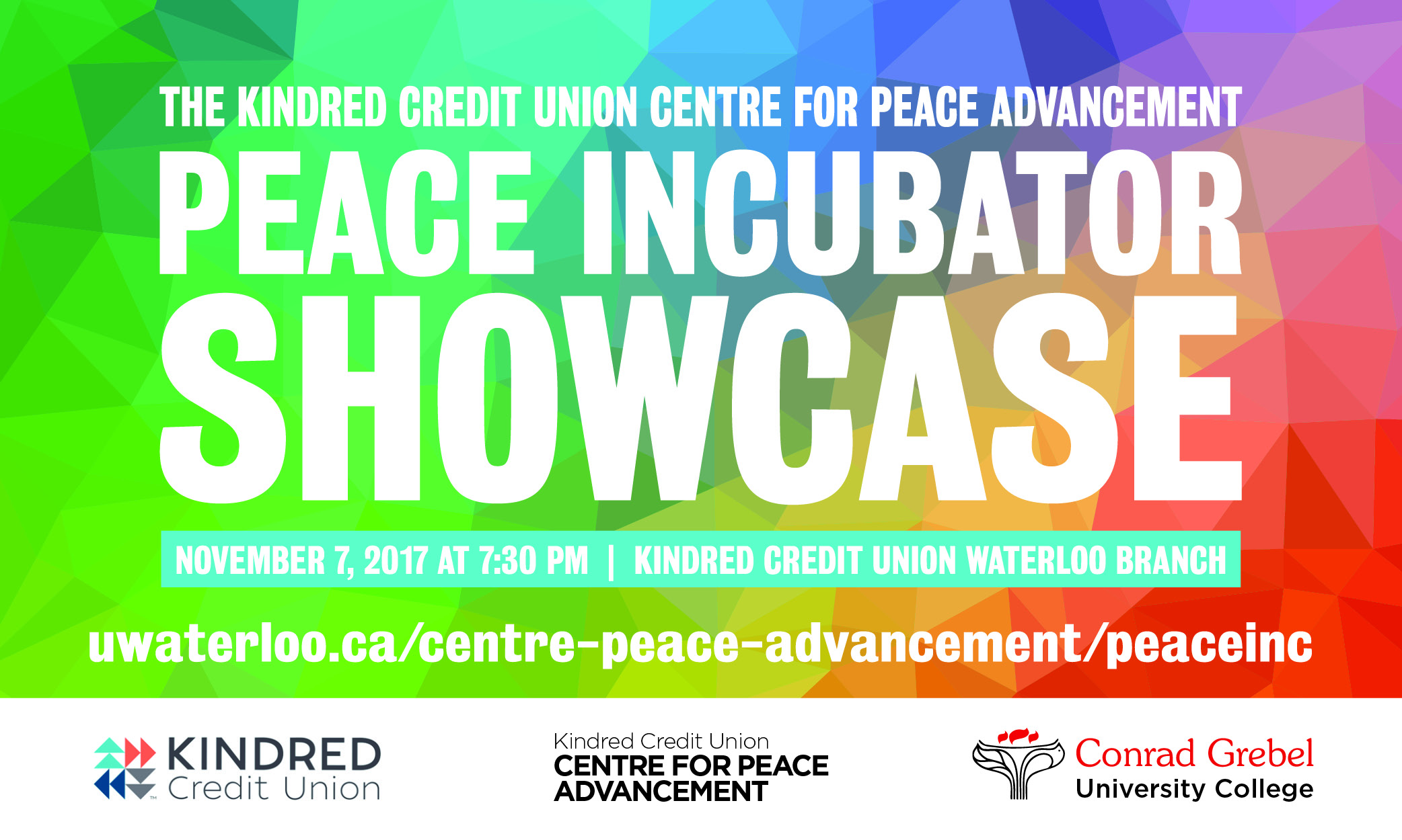 Poster for Peace Incubator Showcase
