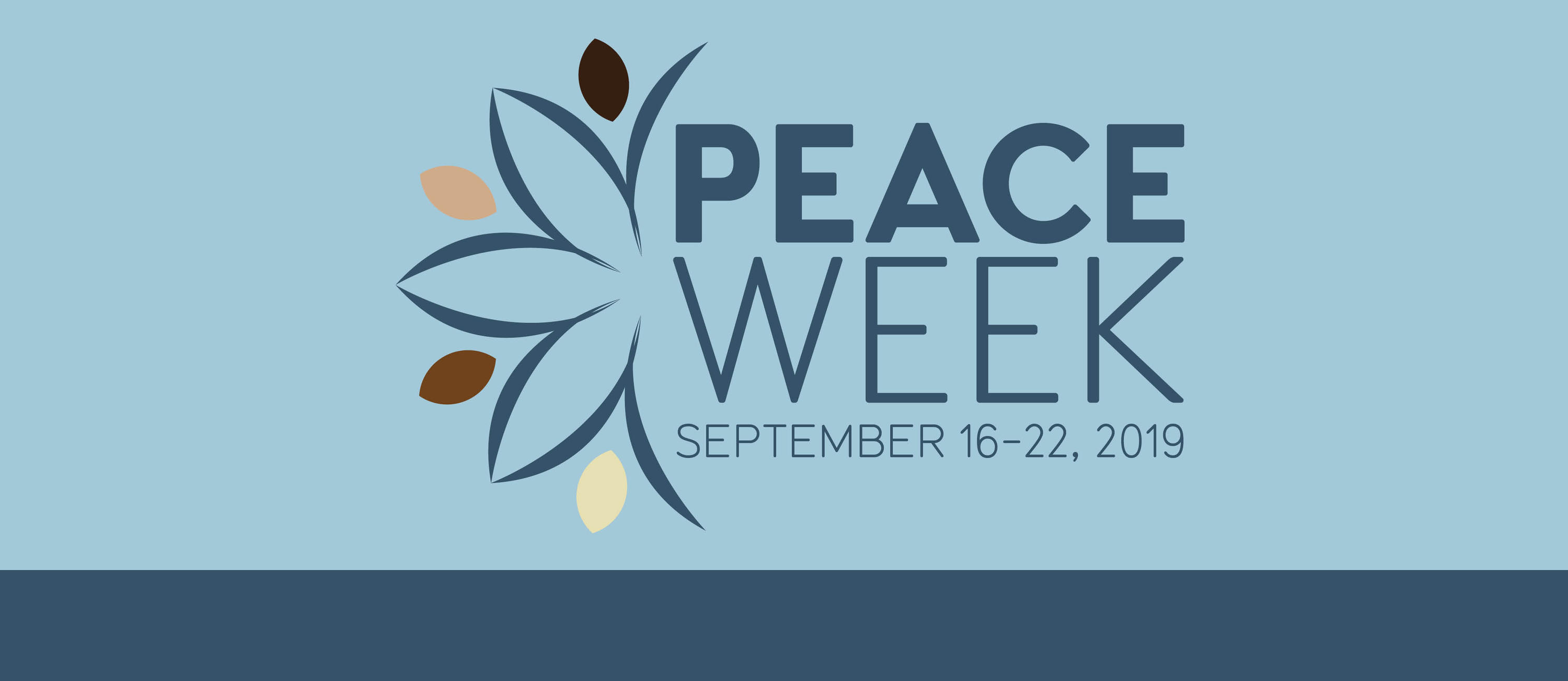 Peace Week 2019 Poster and Logo