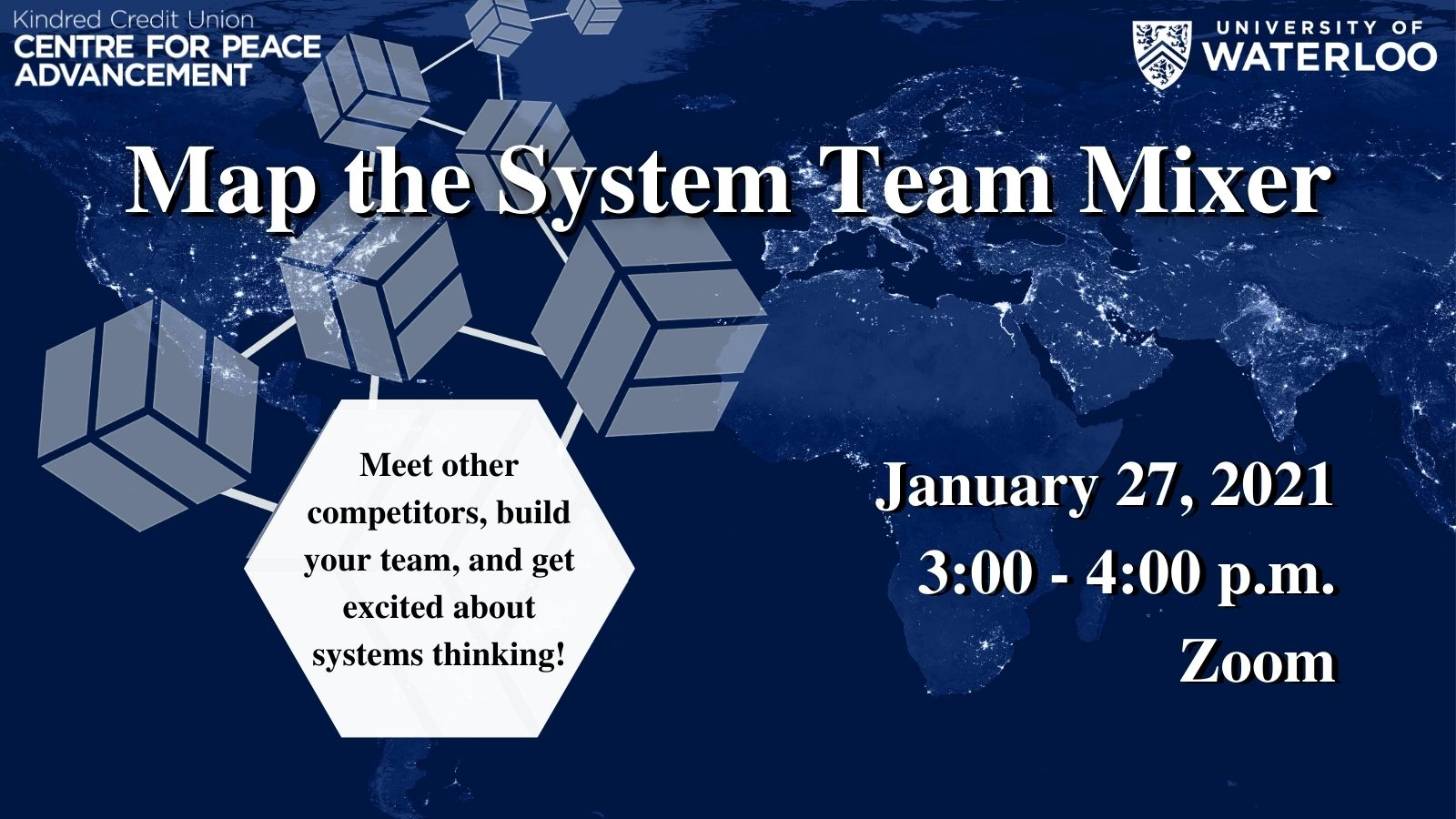"Map the System Team Mixer graphic: ""January 27, 2021. 3-4 p.m. Zoom."""