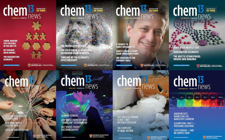 Chem 13 News Magazine covers