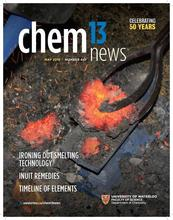 April 2019 front cover of Chem 13 News