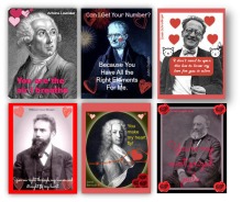 Valentines cards of famous chemists.