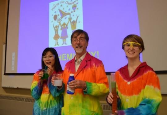 Yu-Ru Lee from Taiwan, Geoff Rayner-Canham, and Robin Taylor