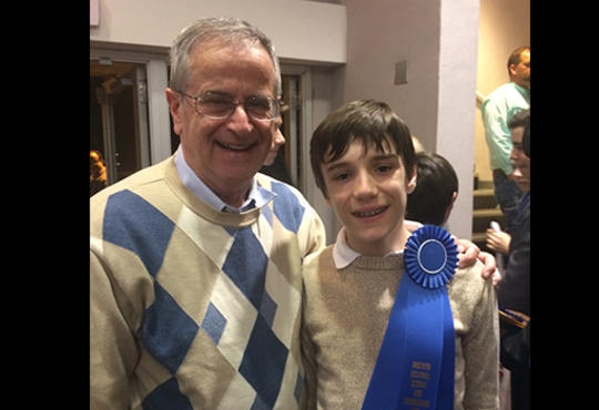 Charles Marzzacco and Charles Pepin – Charles Pepin has a blue ribbon on