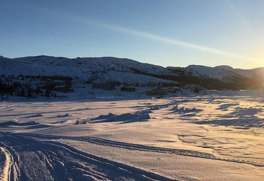 Chaim's home town of Nain in the winter