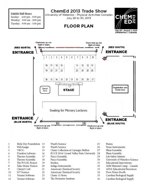Final floor plan for exhibit hall