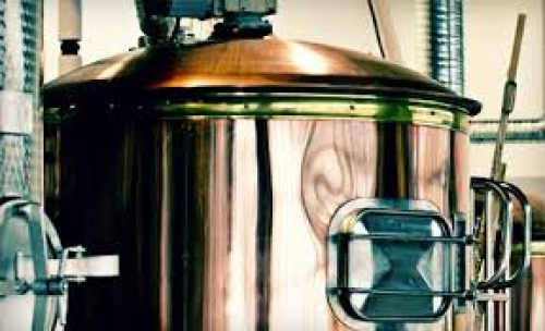 View of brewing equipment