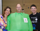 ChemEd 2013 exhibit hall -- dressed like chlorine
