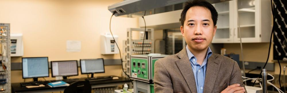 Professor Zhongwei Chen stands in his research laboratory