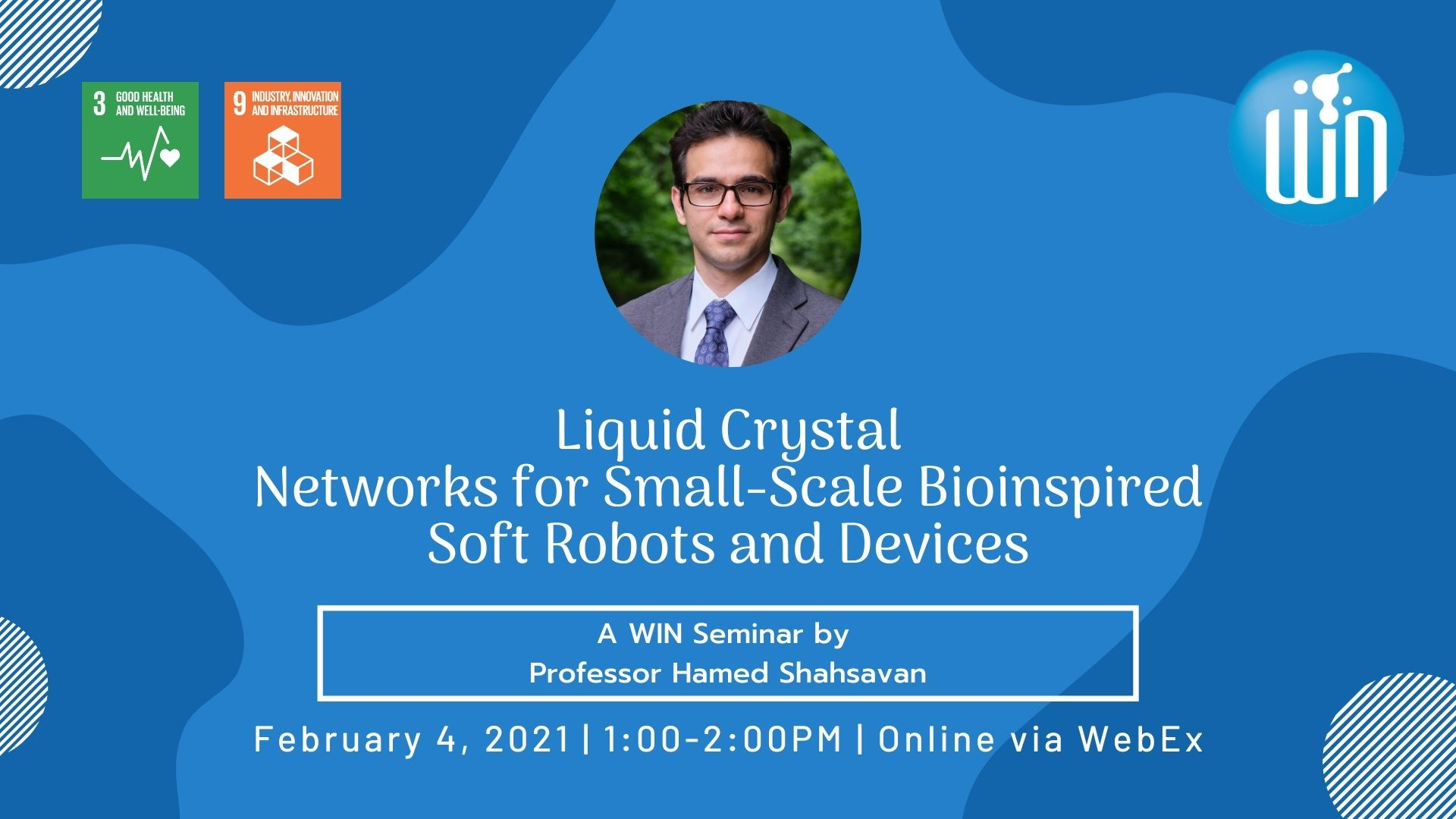 Hamed Shahsavan, Networks for small-scale bioinspired soft robots and devices.