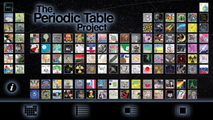 a screenshot of the landing page for the periodic table project app