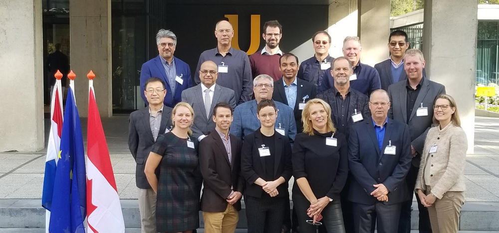 Waterloo Institute of Nanotechnology delegation visiting MESA+ Institute for Nanotechnology in the Netherlands.