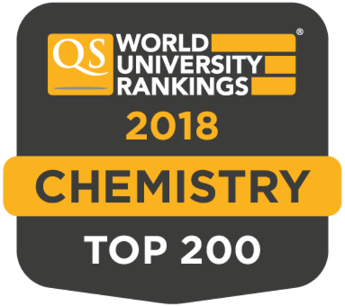QS 2018 world ranking for chemistry, top 200