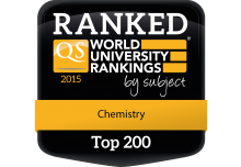 QS World Rankings badge for Waterloo Chemistry in the top 200