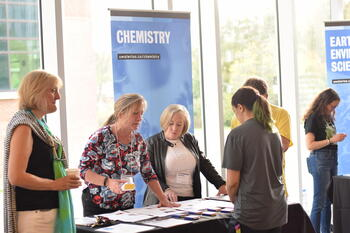 Chemistry department at recruitment event.