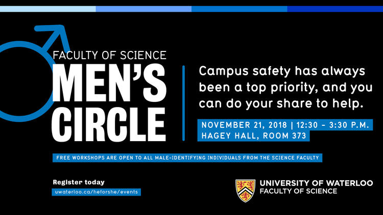 Faculty of Science Men's Circle Event November 21, 2018. Campus Safety has always been a top priority and you can help.