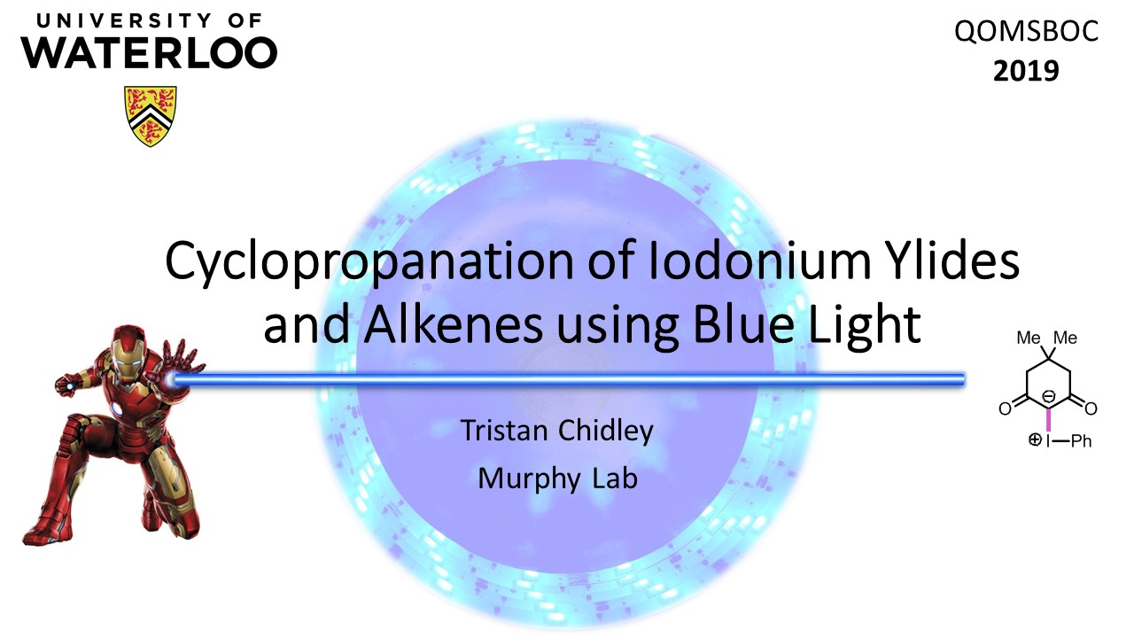 Cyclopropanation of Iodonium Ylides and Alkenes using Blue Light; Tristan Chidley