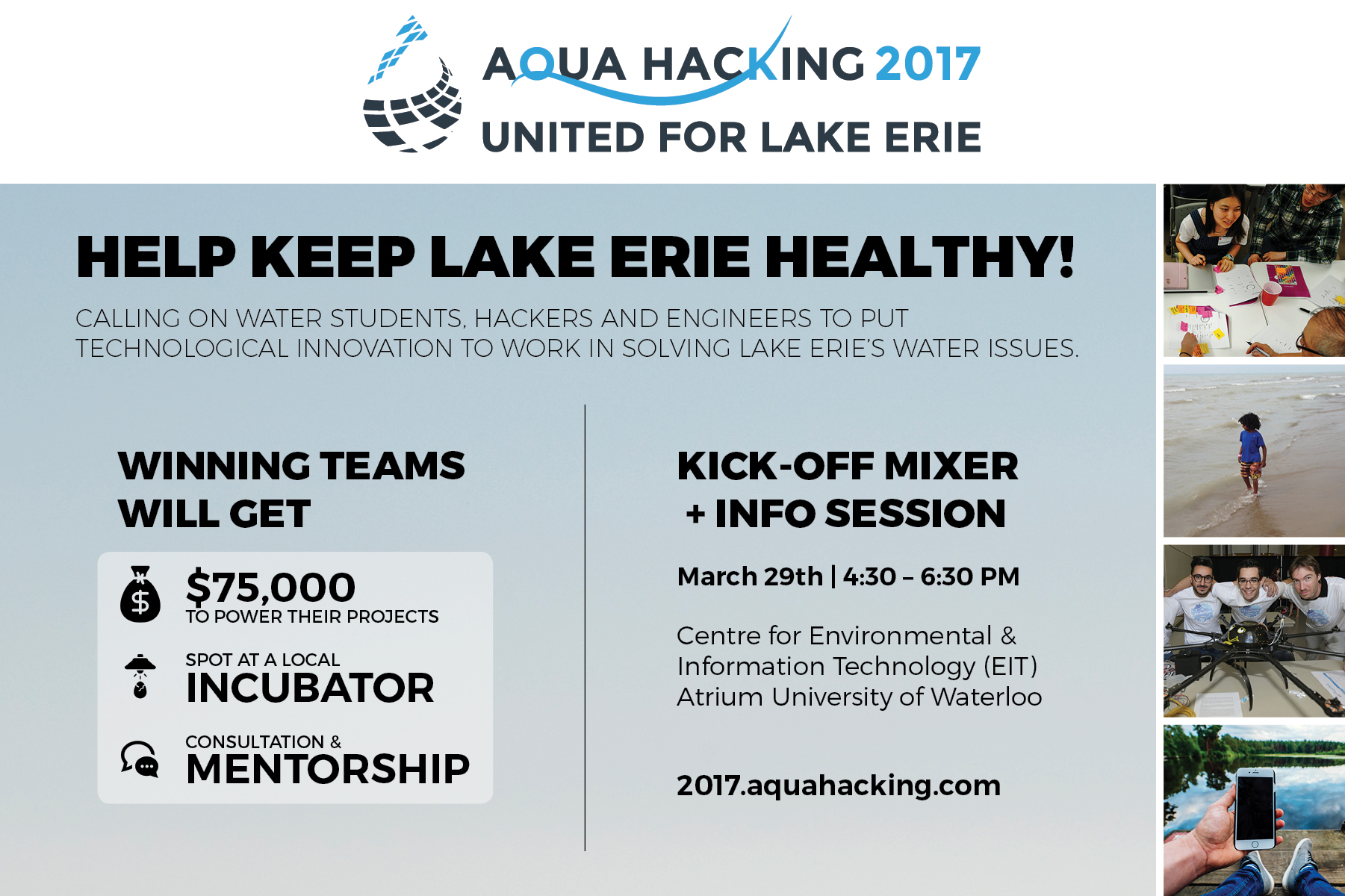 Announcement poster for AquaHacking 2017.