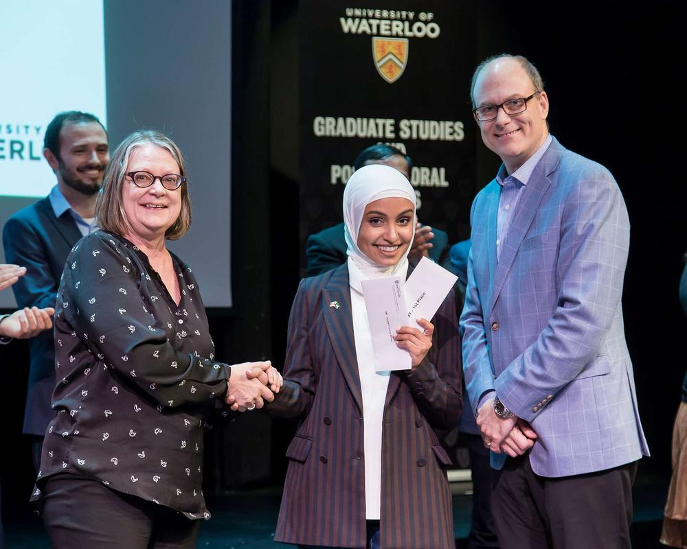 Haya Almutairi wins first place at University 3MT competition