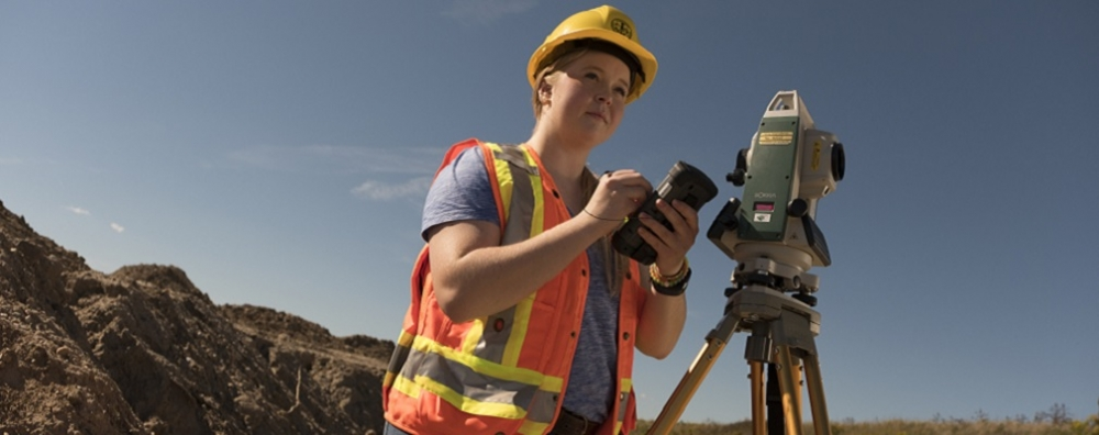 female surveyor