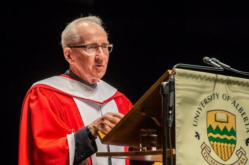 Ralph addressing Convocation