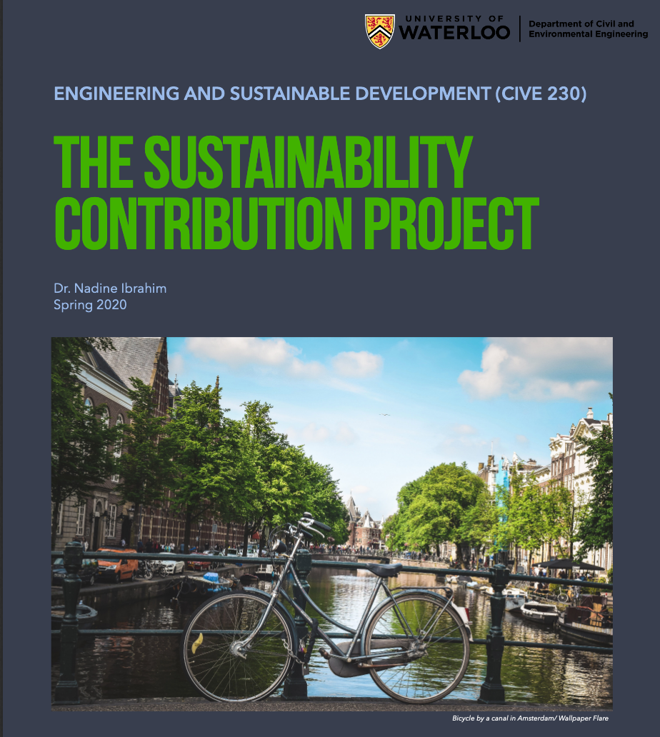 Book Cover The Sustainability Contribution Project