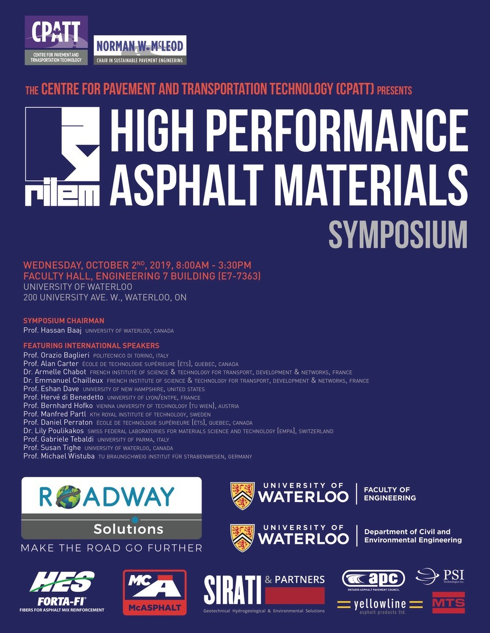 High Performance Asphalt Materials Symposium Poster