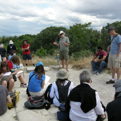 19. Bob Porter reciting Homer on the summit of Troy