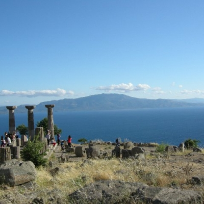 24. The Greek island of Lesbos from the heights of Assos
