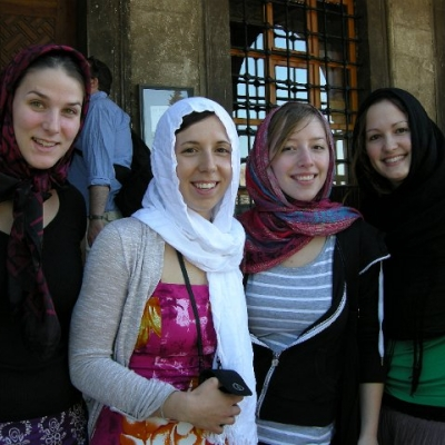 3. Waterloo students outside the Blue Mosque, Istanbul