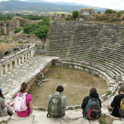 41. Waterloo students at the theatre, Aphrodisias