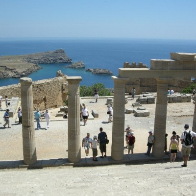 65. View from the acropolis at Lindos, Rhodes
