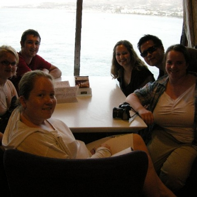 78. Students on the ferry, Aegean Sea