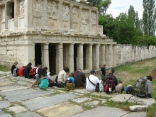 Professor Hardiman lecturing at the Sebasteion, Aphrodisias