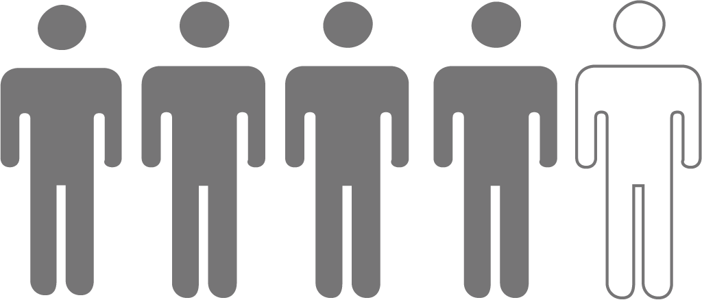 Icon depicting one in five people